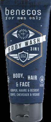 Benecos 3 in 1 Body, Hair & Face Gel - Σαμπουάν & Αφρόλουτρο