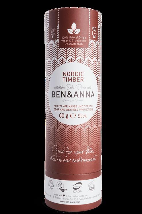 Ben & Anna Deo Stick / Στερεό Αποσμητικό Σε Χάρτινη Συσκευασία - Nordic Timber