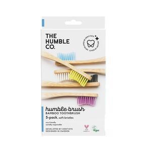 Humble Brush Adult Soft x 5 - Οδοντόβουρτσα Μπαμπού Ενηλίκων Συσκευασία Family