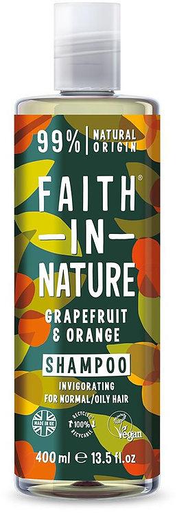 Faith in Nature Grapefruit & Orange - Σαμπουάν Βιολογικό Γκρέιπφρουτ & Πορτοκάλι