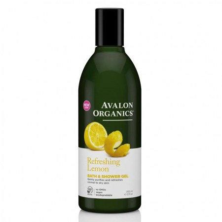 Avalon Organics Shower Gel Lemon - Αφρόλουτρο Με Λεμόνι