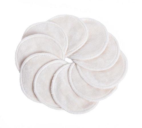 Δίσκοι ντεμακιγιάζ πολλαπλών χρήσεων από βιολογικό βαμβάκι 7cm Set 5