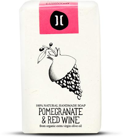 Helleo Pomegranate & Red Wine Soap - Σαπούνι Ρόδι & Κόκκινο Κρασί