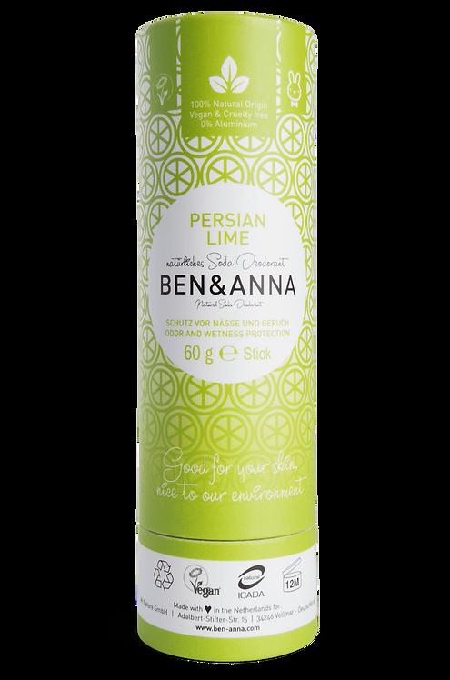 Ben & Anna Deo Stick / Στερεό Αποσμητικό Σε Χάρτινη Συσκευασία - Persian Lime
