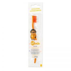 Biobrush Orange - Οικολογική Παιδική Οδοντόβουρτσα Πορτοκαλί