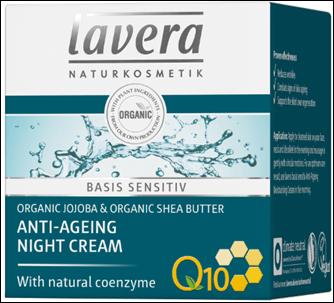 Lavera Basis Sensitiv Q10 Night Cream - Aντιγηραντική Kρέμα Νυκτός