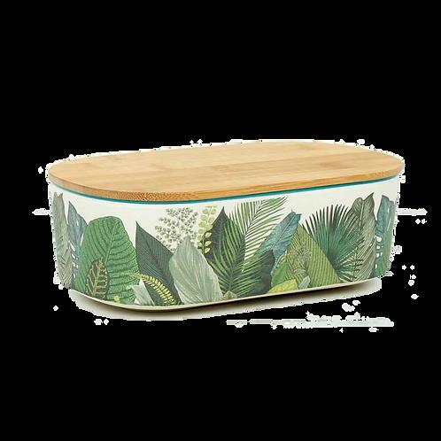 Δοχείο φαγητού Bamboo Deluxe - Exotic leaves