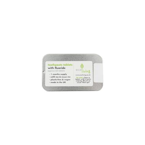 Ecoliving Toothpaste Tablets In Box - Οδοντόκρεμα Σε Ταμπλέτες Με Φθόριο