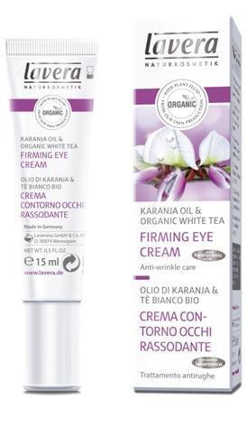 Lavera Firming Eye Cream - Συσφικτική Κρέμα Ματιών Με Έλαιο Karanja & Λευκό Τσάι
