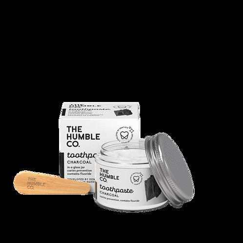 The Humble Co. Toothpaste Charcoal-Οδοντόκρεμα Με Ενεργό Άνθρακα Σε Γυάλινο Βάζο