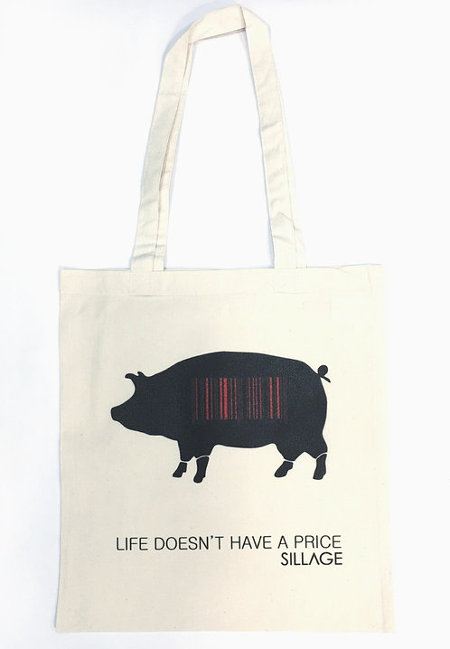 Tote Βαμβακερή Τσάντα - Life Doesn't Have A Price Pig
