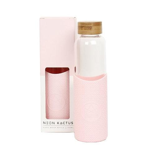 Glass Water Bottle Pink - Flamingo - Γυάλινο Μπουκάλι Ροφημάτων