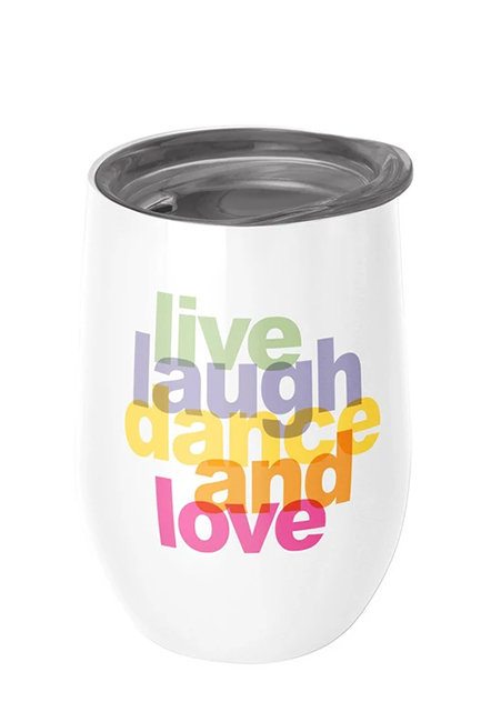 Chic Mic Stainless Steel Thermos Cup -Live Laugh Dance And Love  | 400ML