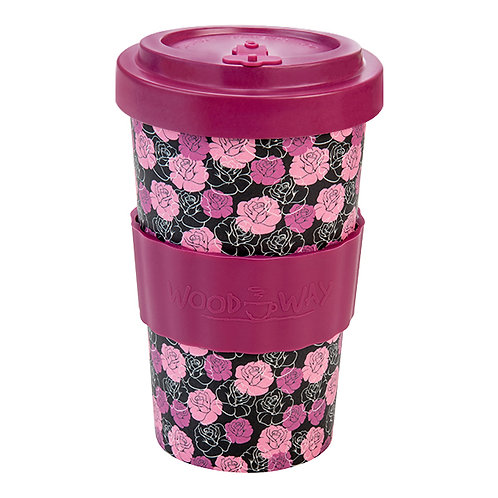Eco Bamboo Cup - Roses