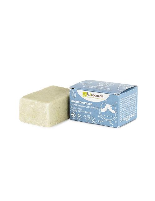 La Saponaria Solid Shampoo Purifying & Anti-Dandruff - Οργανικό Στερεό Σαμπουάν