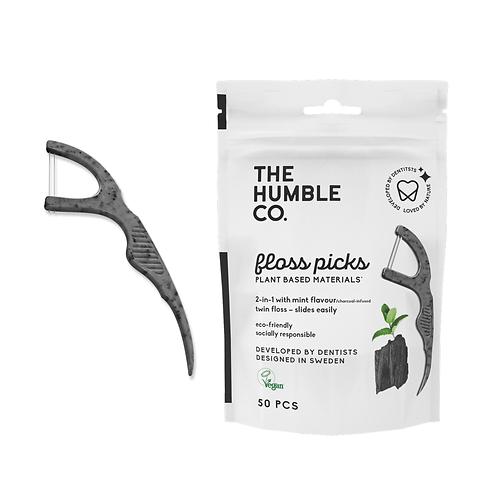 Humble Brush Floss Picks - Μεσοδόντια Με Διπλό Νήμα & Κομποστοποιήσιμη Λαβή
