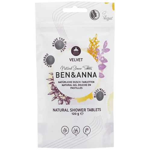 Ben & Anna Natural Shower Tablets Velvet - Ταμπλέτες Αφρόλουτρο