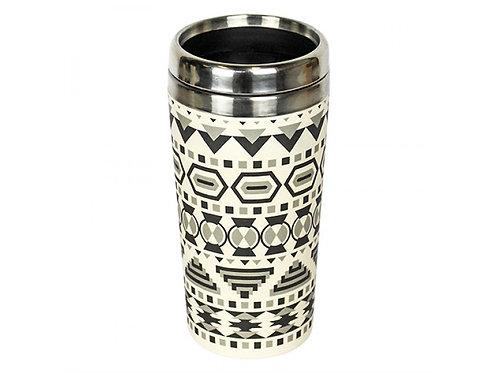 Eco Bamboo Cup Θερμός - Aztec White Black