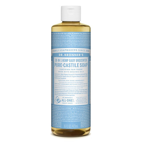 Dr. Bronner's Pure Castile Liquid Soap Baby - Αγνό Υγρό Σαπούνι Καστίλης