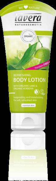Lavera Refreshing Body Lotion - Κρέμα Σώματος Με Βιολογική Λουίζα & Lime