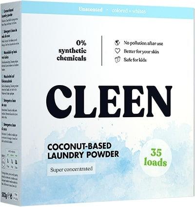 Cleen Coconut - Based Laundry Powder - Απορρυπαντικό Ρούχων Από Καρύδα
