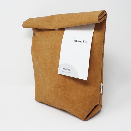 Vleather Lunch Bag Biscuit - Χειροποίητη Τσάντα Φαγητού Από Πλενόμενο Χαρτί