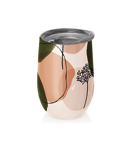 Chic Mic Stainless Steel Thermos Cup - Olive Peach | 400ML