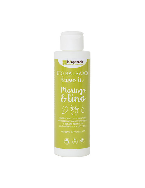 La Saponaria Leave-in Conditioner Moringa&Flaxseed Oil - Μαλακτική Κρέμα Μαλλιών