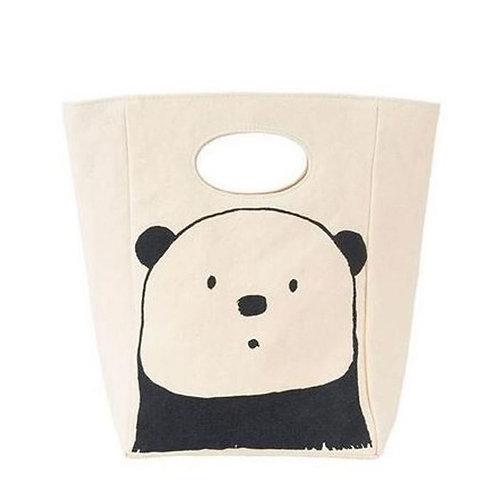 Fluf Classic Lunch Panda - Τσάντα Φαγητού Από Οργανικό Βαμβάκι
