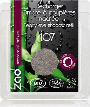 ZAO Eyeshadow Pearly - Βιολογική Σκιά 107 Brown Grey Refill