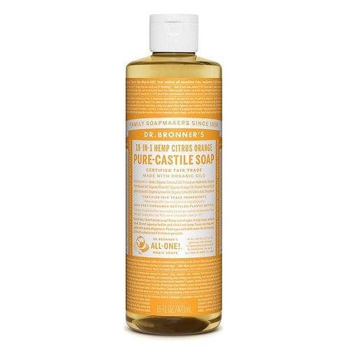 Dr. Bronner's Pure Castile Liquid Soap Citrus - Αγνό Υγρό Σαπούνι Καστίλης