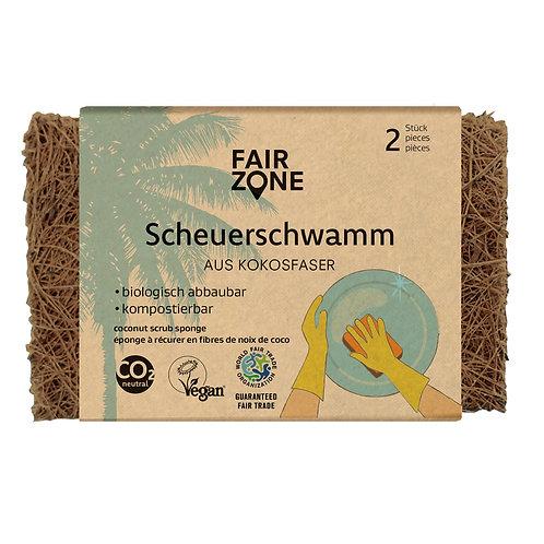 Fair Zone Scrub Sponge - Σπόγγος/Σύρμα Καθαρισμού Από Ίνες Καρύδας Σετ 2