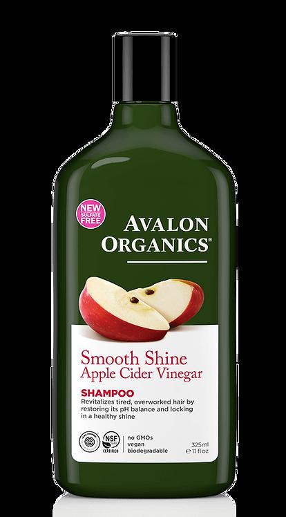 Avalon Organics Smooth Shine Apple Cider Vinegar Shampoo - Με Μηλόξυδο
