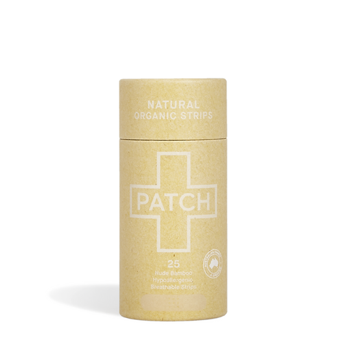Bamboo Patch Adhesive Strips Tube Of 25 - Natural