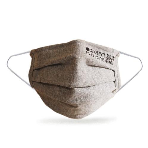 100% Organic Cotton 3 Layer Face Mask Grey -Τριπλή Υφασμάτινη Μάσκα
