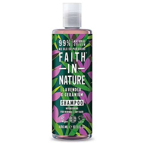 Faith In Nature Shampoo Lavender & Geranium - Σαμπουάν με Λεβάντα & Γεράνι