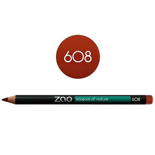 Zao Pencil Eyes, Lips, Eyebrows 608 - Βιολογικό Μολύβι Ματιών, Χειλιών & Φρυδιών
