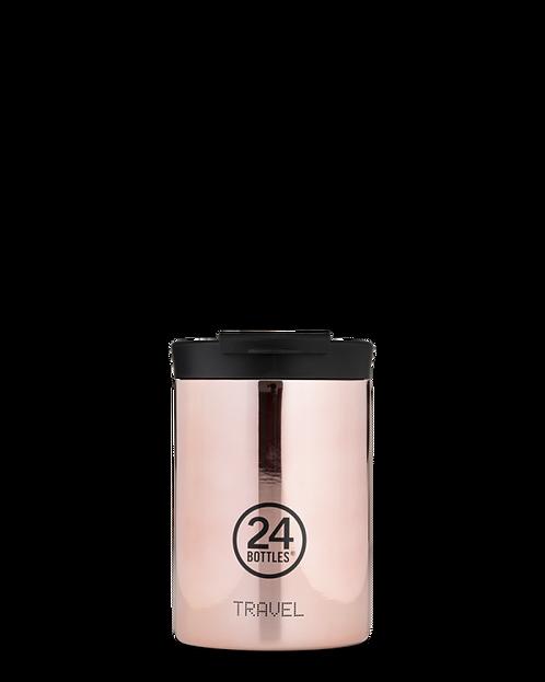 24 Bottles Travel Tumbler Rose Gold - Ποτήρι Θερμός 350ml