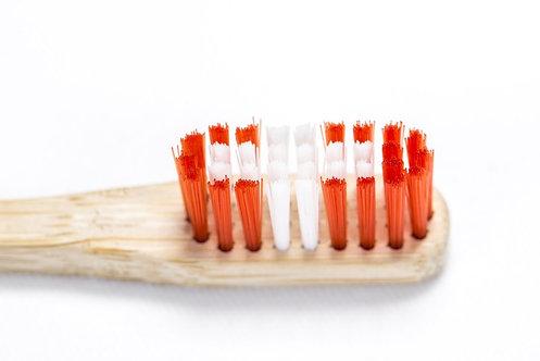 Οδοντόβουρτσα Μπαμπού Boobam Bamboo Toothbrush - Swiss Flag