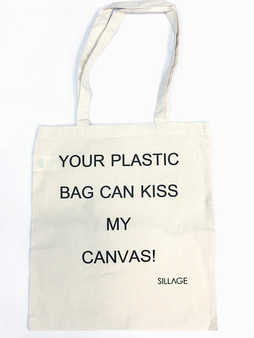 Tote Βαμβακερή Τσάντα - Your Plastic Bag Can Kiss My Canvas