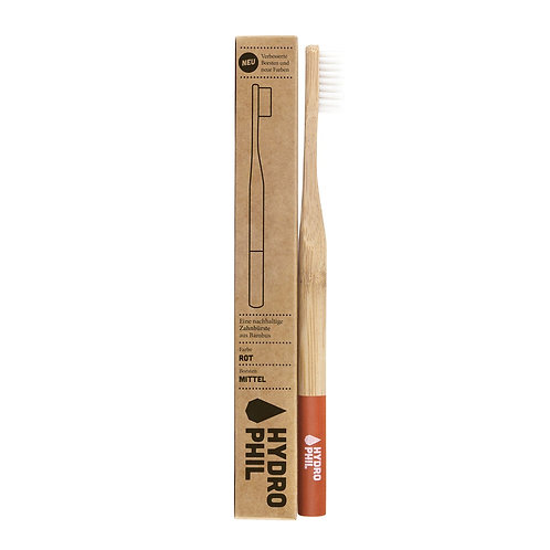 Hydrophil Toothbrush Bamboo Red - Οδοντόβουρτσα Bamboo Medium / Soft
