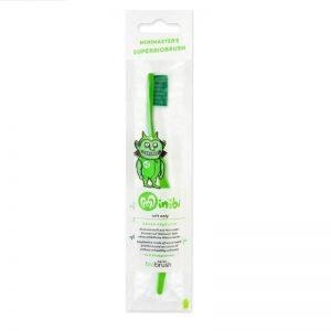 Biobrush Green - Οικολογική Παιδική Οδοντόβουρτσα Πράσινη
