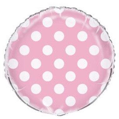 "Balloon Foil 18"" Dots Pink"