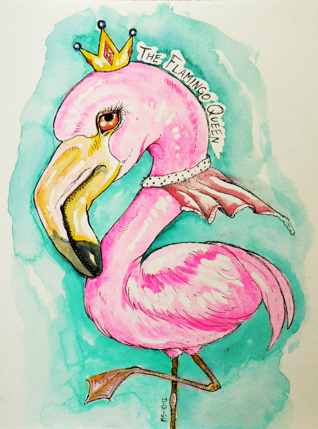the_flamingo_queen_by_blackmagdalena-d5itz93