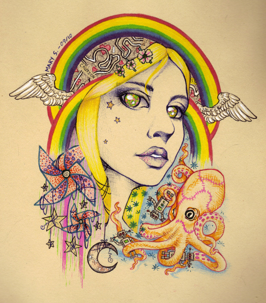 Girl with Kaleidoscope Eyes