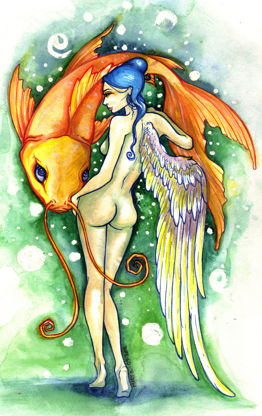 dorsal_angel_with_koi_by_blackmagdalena-d5g6hja
