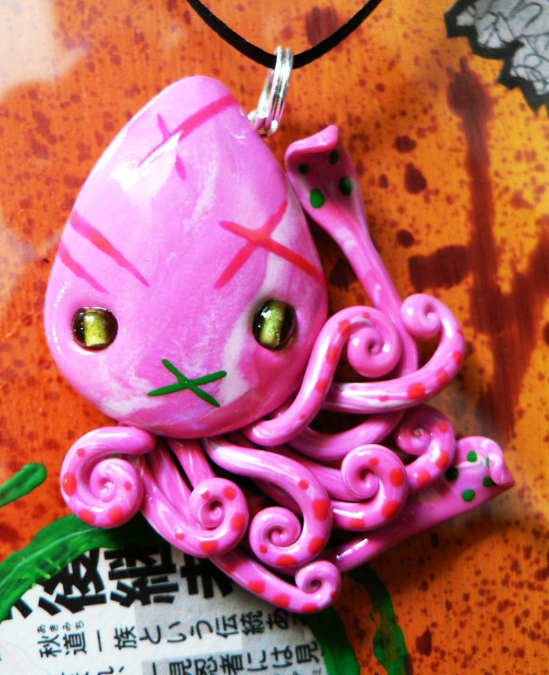 neon_pink_squid_charm_by_blackmagdalena-d5mkai6