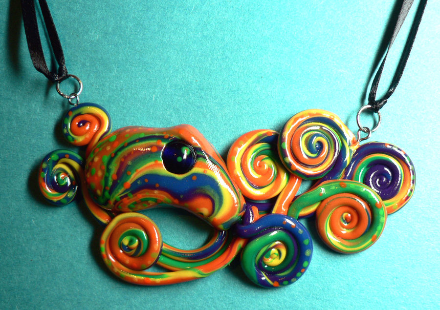 rainbow_octopus_choker_by_blackmagdalena