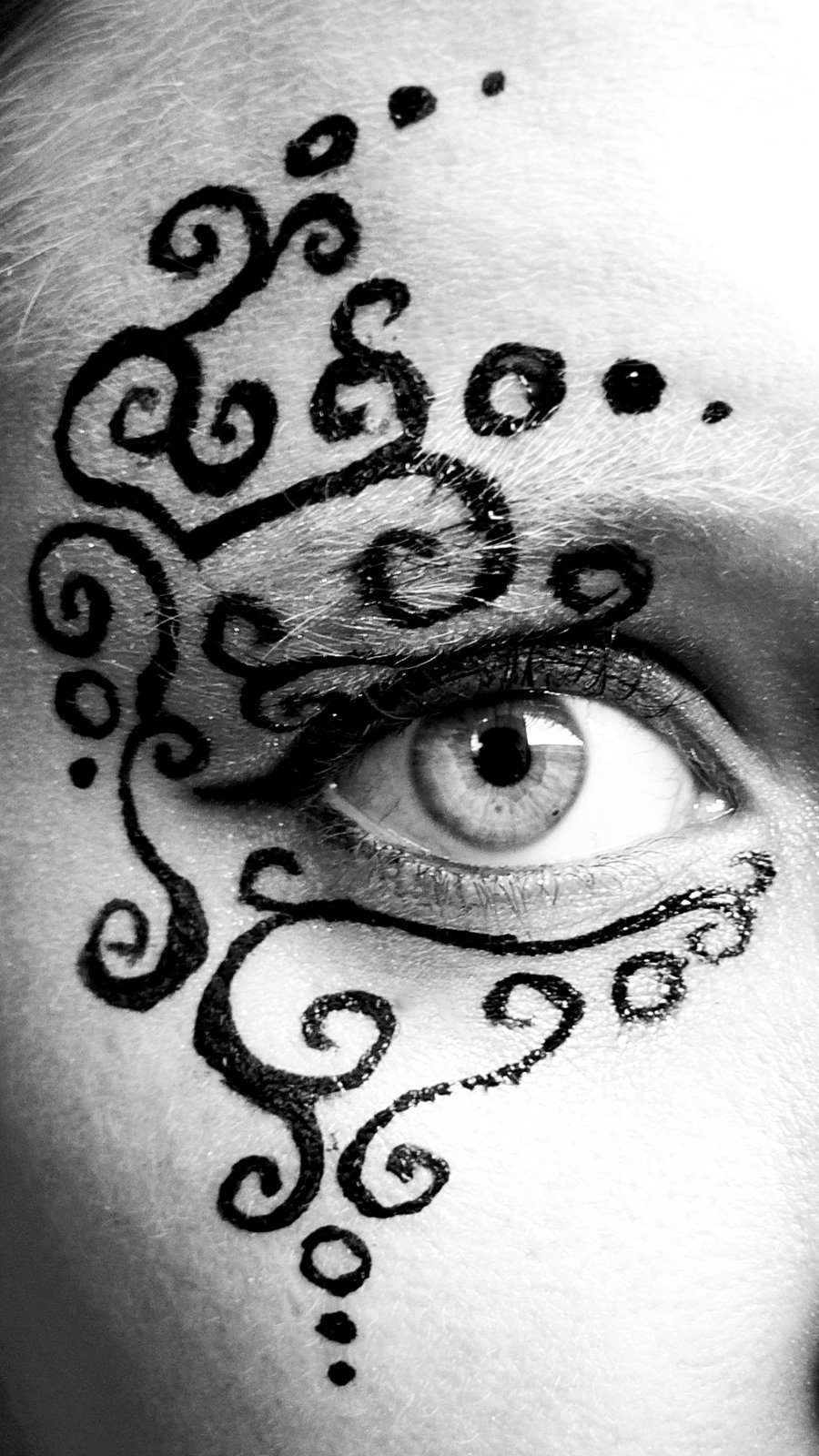 face_paint_filligree_by_blackmagdalena-d4ij2mn