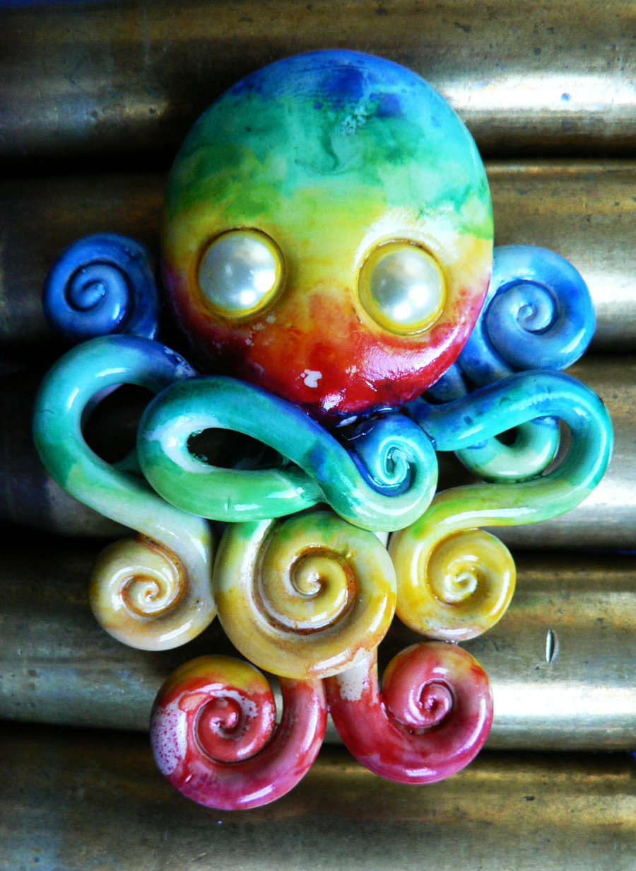 watercolor_rainbow_octopus_by_blackmagdalena-d4defsh